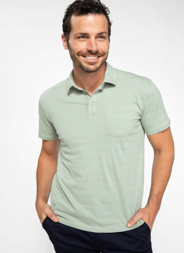 DeFacto Trend Slim Fit Polo T-shirt Yeşil